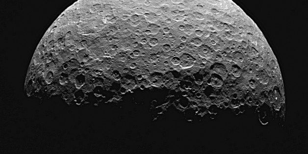 This photo from a sequence of images provided by NASA, taken from the Dawn spacecraft of Ceres, a dwarf planet located in the
