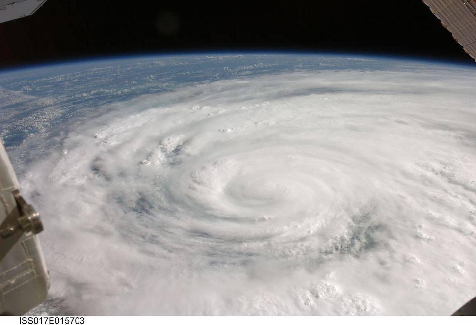 Hurricane Ike covers more than half of Cuba. It was taken by the Expedition 17 crew aboard the International Space Station fr