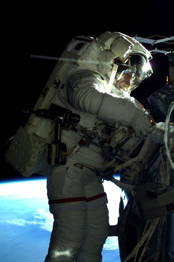 #AstroButch in the vacuum of space today. #spacewalk