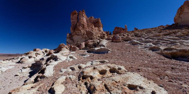 Inspired landscapes in the Atacama Desert in the north of Chile.