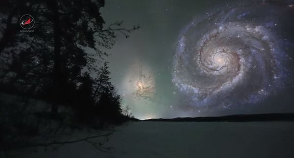 The Whirlpool Galaxy is 60,000 light-years across and, in real life, 30 million light-years from Earth.