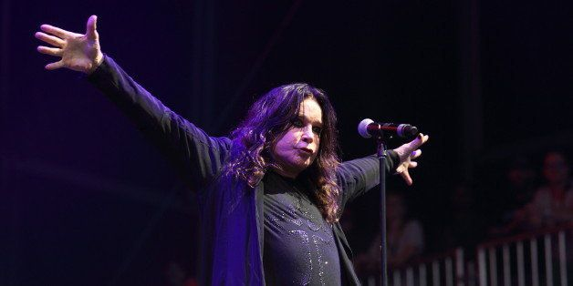 Ozzy Osbourne of Black Sabbath performs at the Lollapalooza festival in Chicago's Grant Park on Friday,...