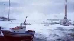 «Κατάπιαν» σκάφη και βάρκες τα κύματα! Δείτε πώς χτυπάει ο μεσογειακός κυκλώνας τη