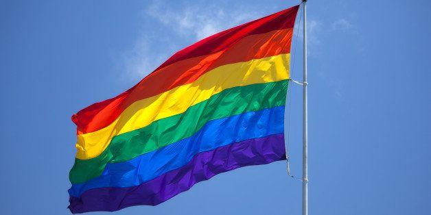 The gay pride flag.