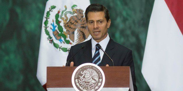 MEXICO CITY, MEXICO - JUNE 10: President of Mexico Enrique Pena Nieto and President of Singapore, Tony Tan Keng Yam (not seen