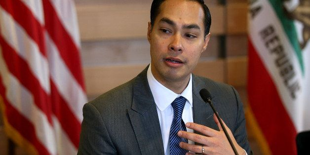 SUNNYVALE, CALIFORNIA - APRIL 08:  Housing and Urban Development secretary Julian Castro speaks during a round table discussi