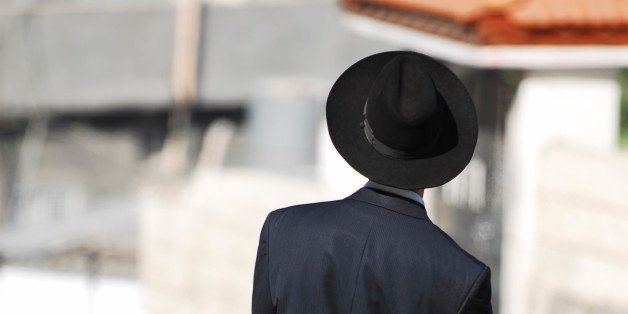 This is a photo of an Orthodox Chasidic Jewish Man In Jerusalem just outside of the Old City.