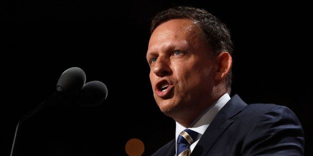 Peter Thiel, co-founder of PayPal, speaks at the Republican National Convention in Cleveland, Ohio, U.S., July 21 2016.   REU