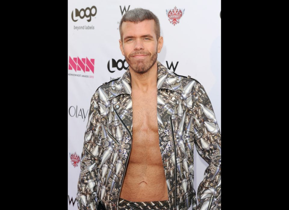 "Perez Hilton arrives at Logo's ""NewNowNext Awards."""