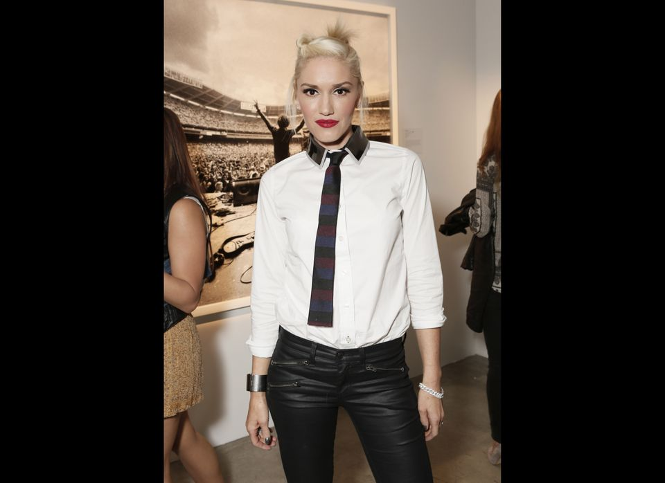 "The No Doubt singer and L.A.M.B. designer <a href=""http://www.huffingtonpost.com/2012/03/12/obama-hollywood-democrats-super-p"