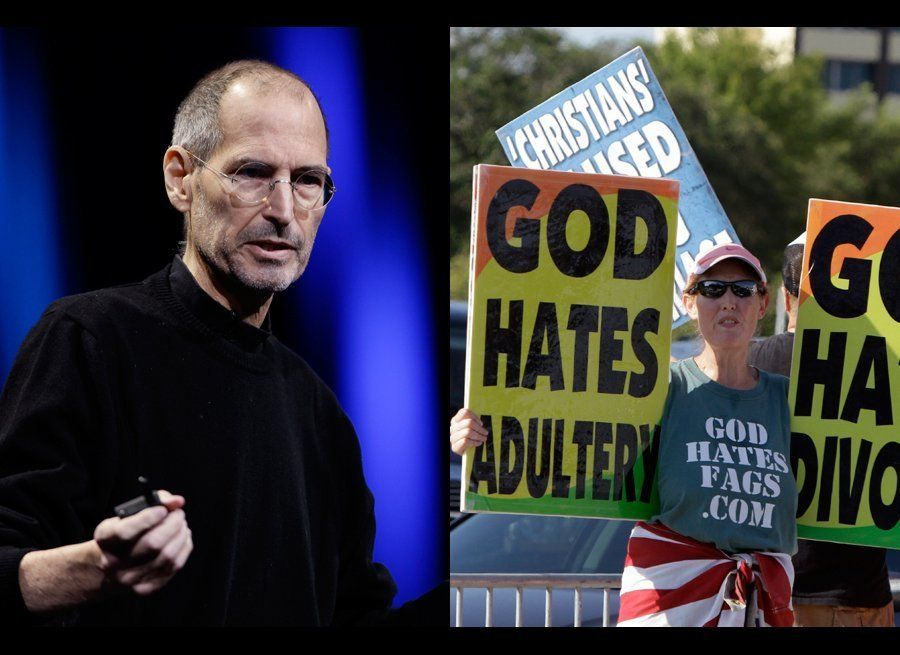 "The Westboro Baptist Church threatened to picket <a href=""https://www.huffpost.com/entry/westboro-baptist-church-steve-jobs-f"