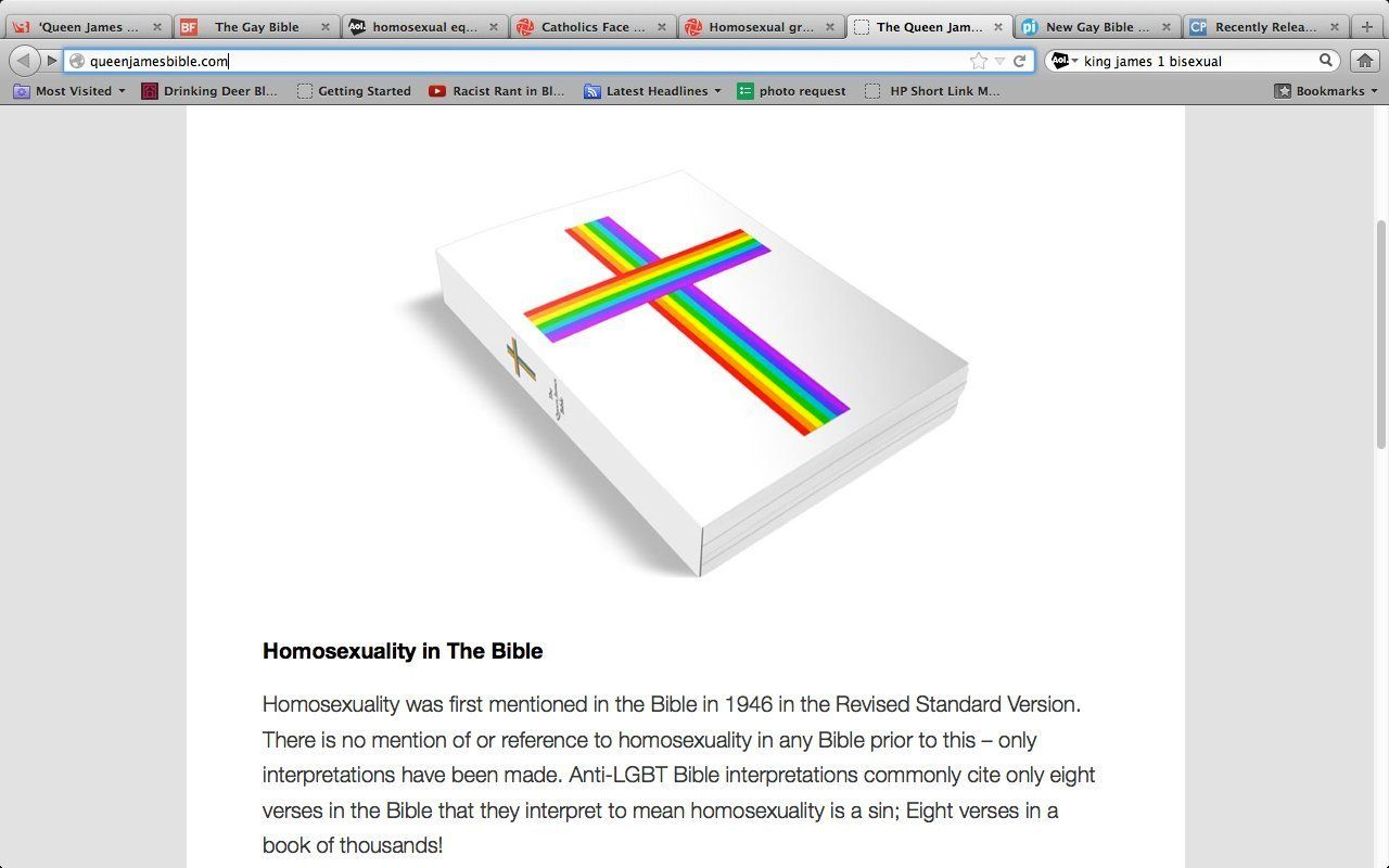 Anti-homosexual references in the new testament