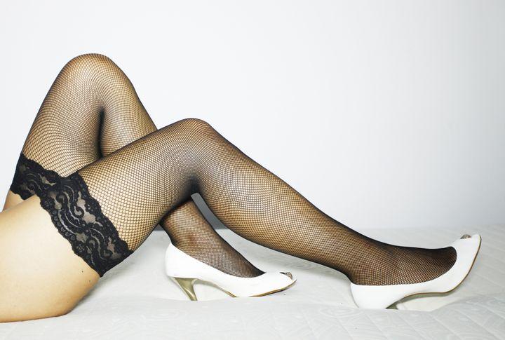 sexy legs wearing stockings