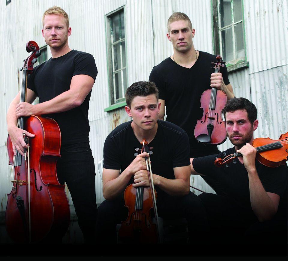 From left: cellist Daniel Shevlin, first violinist Edmund Bagnell, second violinist Christopher Marchant and violist Trevor W