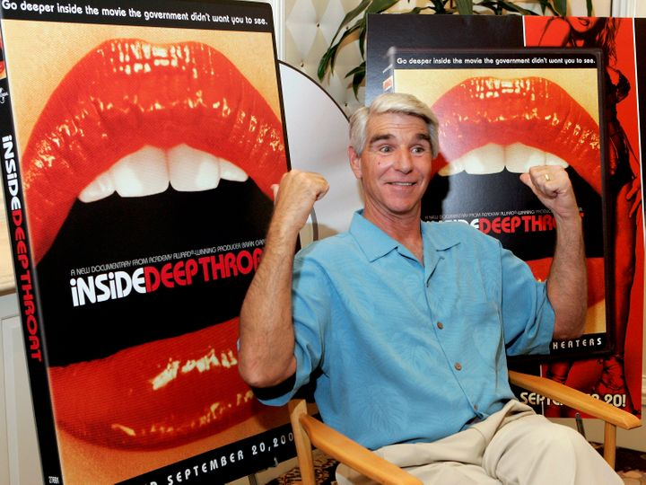 LAS VEGAS - JULY 26: Adult film actor Harry Reems poses at the Video Software Dealers Association's annual home video convent