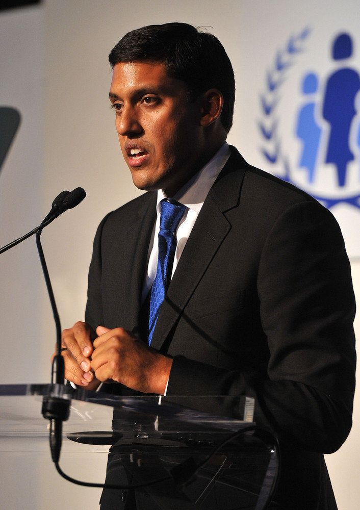 NEW YORK, NY - SEPTEMBER 25:  Dr. Rajiv Shah speaks onstage at the United Nations Every Woman Every Child Dinner 2012 on Sept