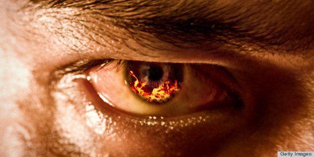 Man's eye after digital manipulation