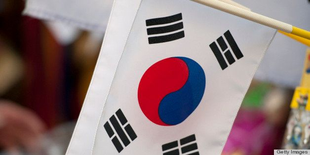 South Korea, Seoul, South Korean flag