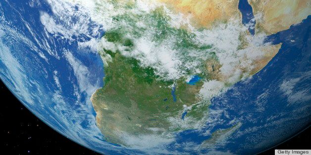 Earth seen from orbit