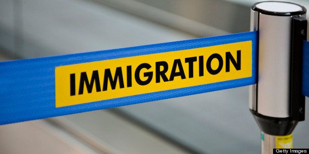 A barrier at an immigration point