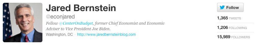 "<a href=""https://twitter.com/econjared"">Jared Bernstein</a>, a former economic adviser to the Obama administration, <a href="""