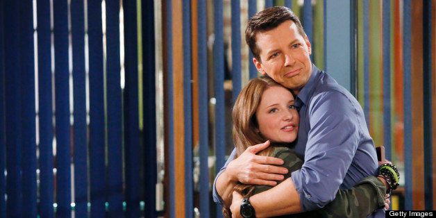 SEAN SAVES THE WORLD -- Pilot -- Pictured: (l-r) Samantha Isler as Ellie, Sean Hayes as Sean -- (Photo by: Vivian Zink/NBC/NB