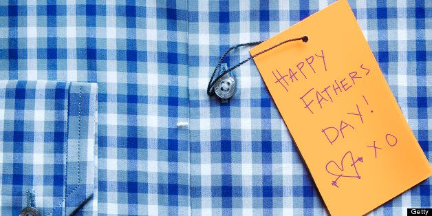 Close-up of Shirt with Happy Father's Day Tag