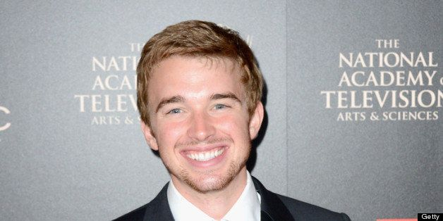 BEVERLY HILLS, CA - JUNE 16:  Actor Chandler Massey poses with the Outstanding Younger Actor In A Drama Series award for 'Day