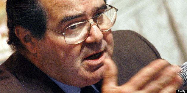 PHILADELPHIA - APRIL 29:  U.S. Supreme Court Associate Justice Antonin Scalia addresses the Philadelphia Bar Association duri