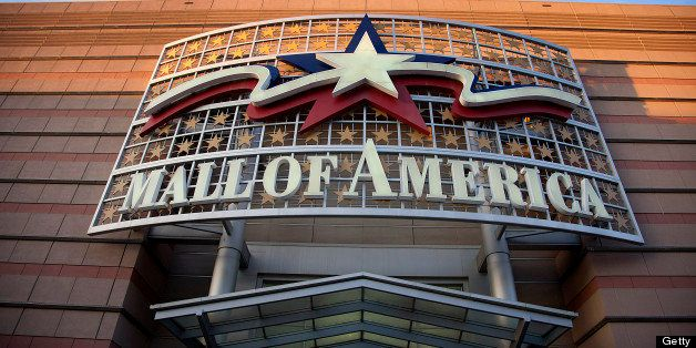 Mall of America signage is displayed outside of a location in Bloomington, Minnesota, U.S., on Saturday, Feb. 25, 2012. The N
