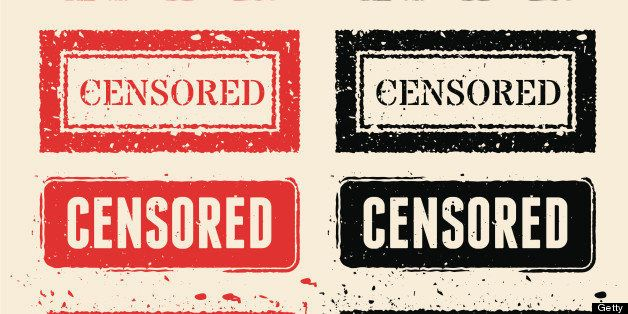 Censored Red ad Black Rubber Stamps