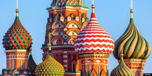Morning view of the St. Basil's Cathedral. Saint Basil?s Cathedral is one of the well-known buildings in Moscow, Russia. This