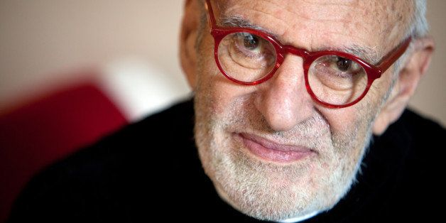 Playwright Larry Kramer of the production 'The Normal Heart' in his apartment in Manhattan, New York on April 22, 2012. (Phot