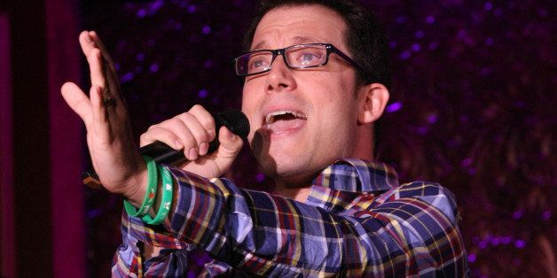 NEW YORK, NY - AUGUST 21:  Actor John Tartaglia performs during  the press preview at 54 Below on August 21, 2013 in New York