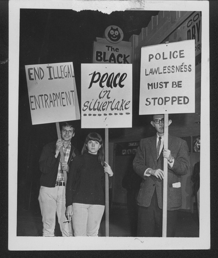In 1967, PRIDE (Personal Rights in Defense and Education) led hundreds in protest of a police incursion into the Black Cat ba