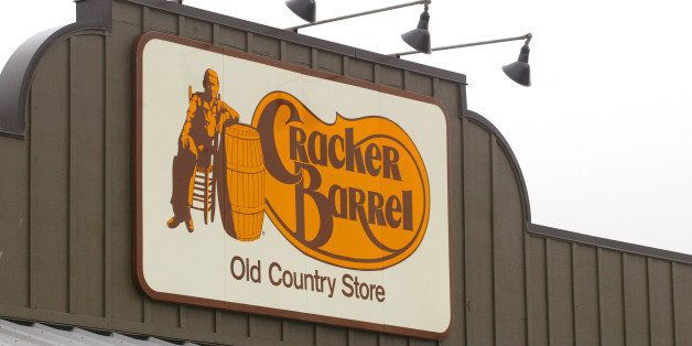 403848 08: A Cracker Barrel Old Country Store sign is visible atop one of its restaurant stores April 12, 2002 in Naperville,
