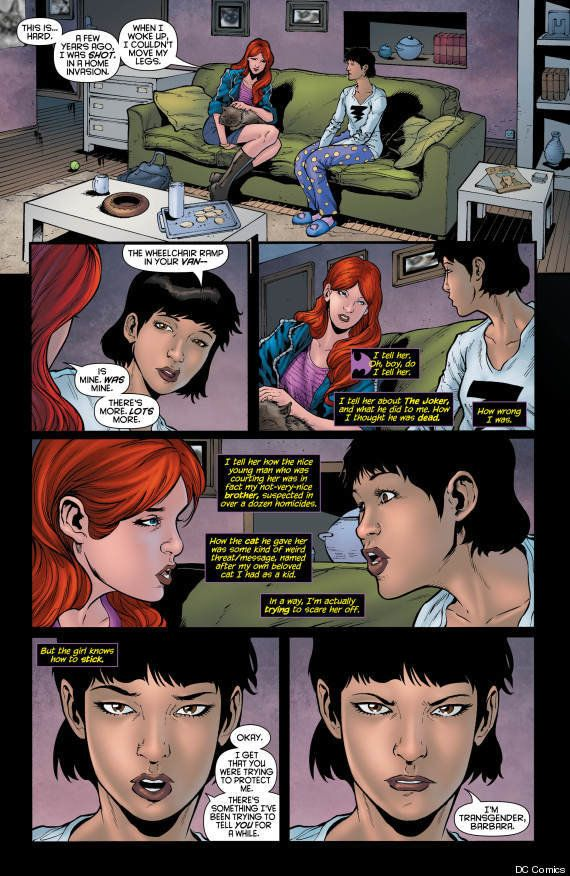 "DC Comic fans were introduced to Alysia in ""Batgirl"" #19 in early April, <a href=""https://www.huffpost.com/entry/dc-comics-tr"