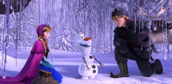 """<em>Now in theaters</em> <br> <br> <strong>Nominations:</strong> Best Animated Feature, Best Original Song (""""Let It Go"""")"""