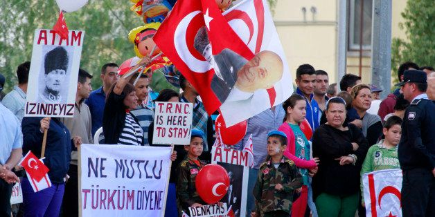 People attend the celebrations of the 30th anniversary of the declaration of the Turkish Republic of Northern Cyprus (TRNC) i