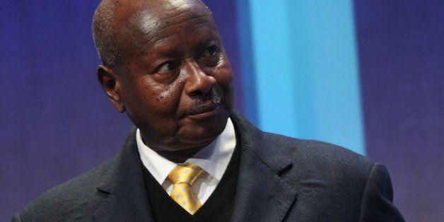 President of Uganda Yoweri Museveni attends the Clinton Global Initiative on September 26, 2013 in New York. AFP PHOTO/Mehdi