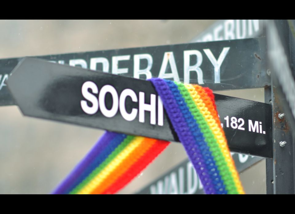 """#GayPropaganda #SochiSign #QueerPropaganda  Photo by Chase Person. Appears courtesy of <a href=""""http://www.pdxQcenter.org"""" ta"""