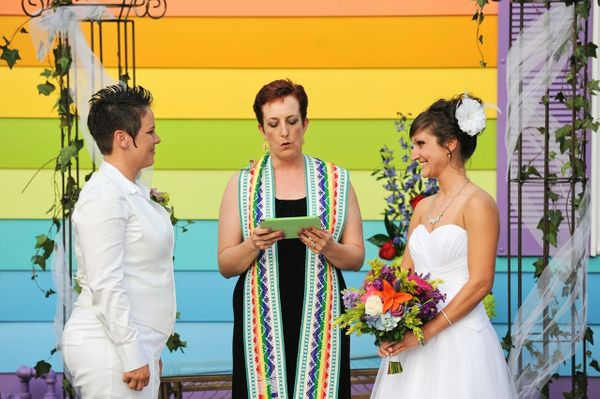 """Last June, Kimberly Kidwell <a href=""""https://www.huffpost.com/entry/equality-house-wedding_n_3486814"""" target=""""_blank"""">married"""