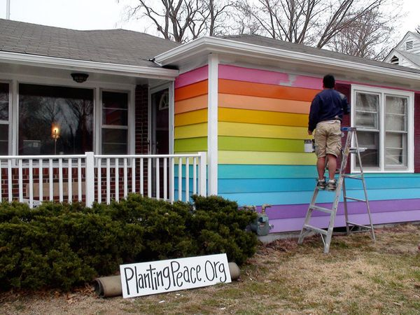 """Jackson initially bought the Equality House after he saw a """"For Sale"""" sign on the property while looking at Westboro Baptist"""