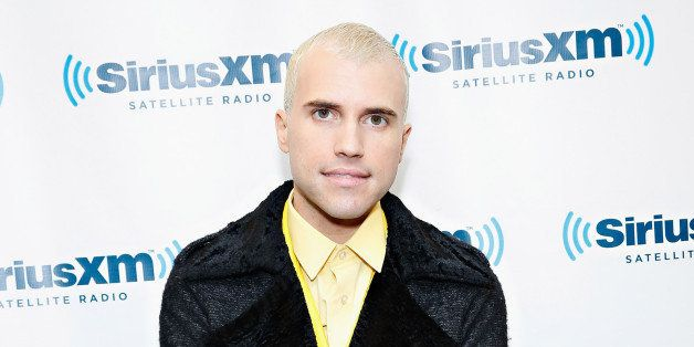 NEW YORK, NY - MARCH 13:  Singer Tyler Glenn of Neon Trees visits the SiriusXM Studios on March 13, 2014 in New York City.  (