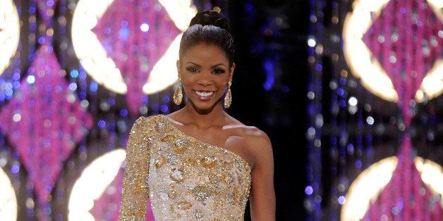 LAS VEGAS, NV - JANUARY 15:  Djuan Keila Trent, Miss Kentucky, competes in the evening gown competition during the 2011 Miss
