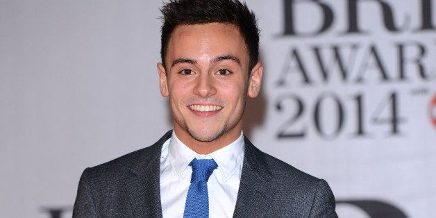 LONDON, ENGLAND - FEBRUARY 19:  Tom Daley attends The BRIT Awards 2014 at 02 Arena on February 19, 2014 in London, England.