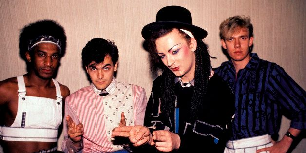 UNITED STATES - JUNE 30:  Photo of CULTURE CLUB and Mikey CRAIG and Jon MOSS and BOY GEORGE and Roy HAY; Posed group portrait