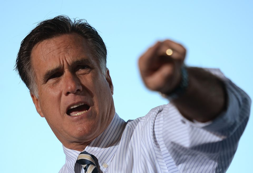 U.S. Republican presidential candidate Mitt Romney holds a rally with Senator Marc Rubio, former Governor Jeb Bush and Congre