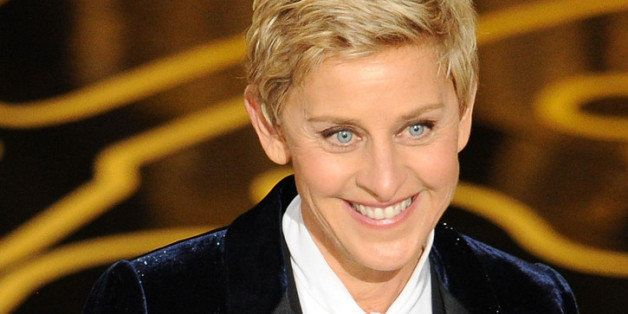HOLLYWOOD, CA - MARCH 02:  Host Ellen DeGeneres speaks onstage during the Oscars at the Dolby Theatre on March 2, 2014 in Hol