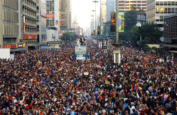"""In 2006, <a href=""""http://www.gaypridebrazil.org/sao-paulo/"""" target=""""_blank"""">Guinness named the pride parade</a> in Sao Paulo"""